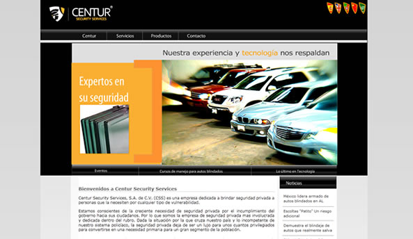 Centur Security web design