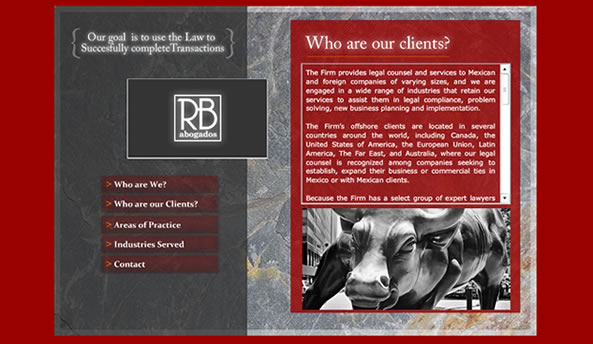 rb mexico law web design